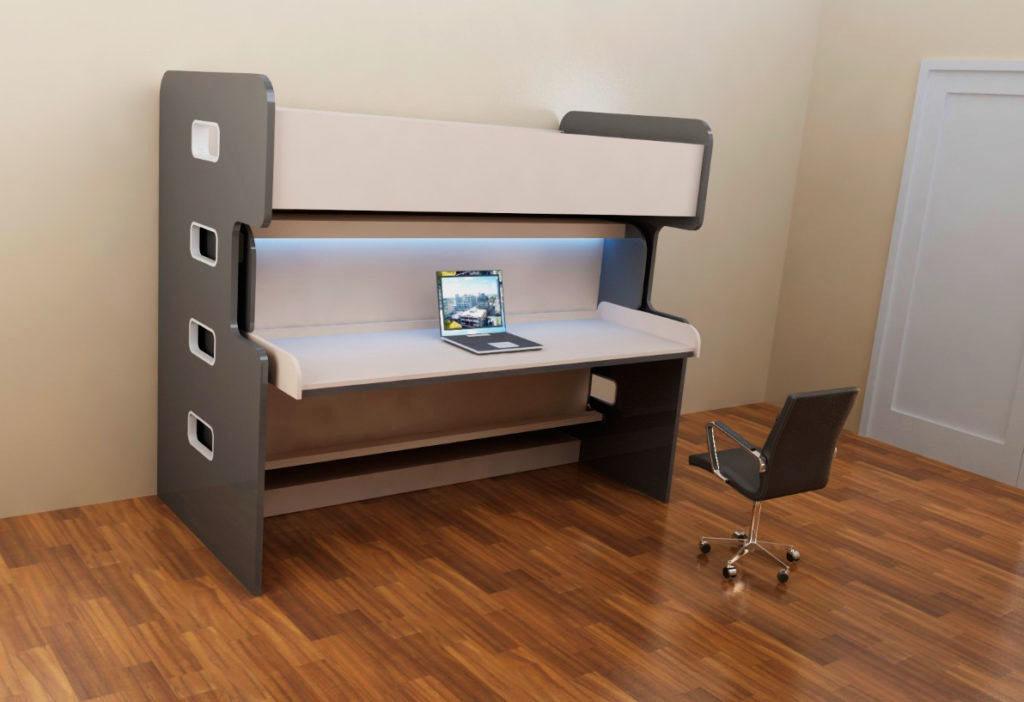 Двухъярусная кровать трансформер со столом