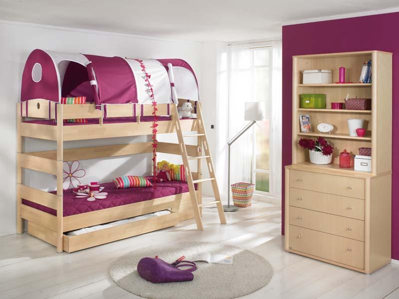 Двухъярусная кровать в комнату девочек
