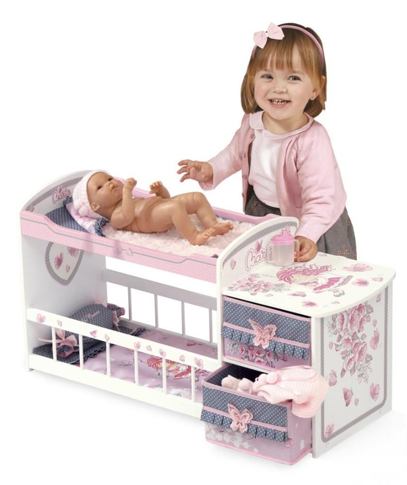 Двухъярусная кроватка для куклы, серия Мария, 80 см