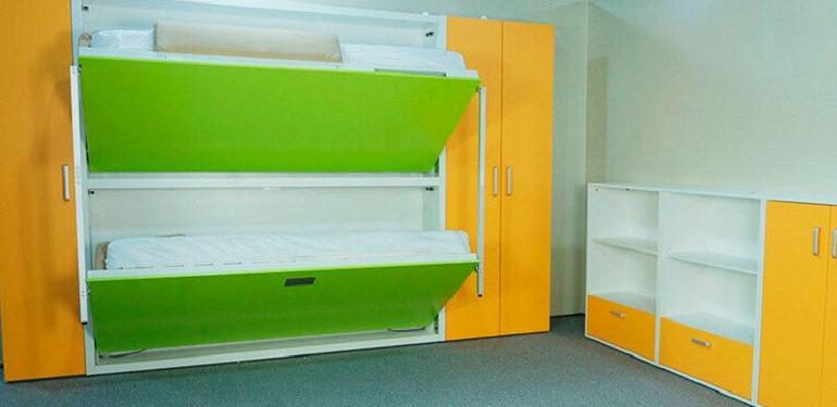 Двухъярусная откидная шкаф-кровать трансформер