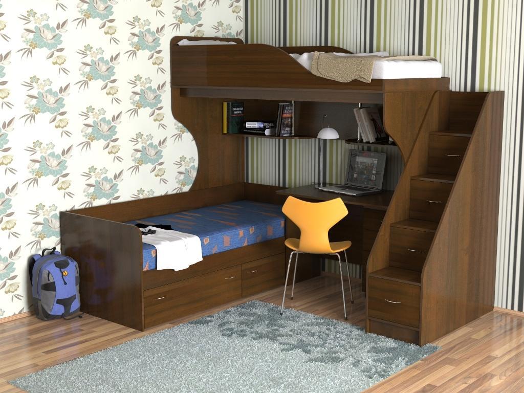 Двухъярусная современная мебель