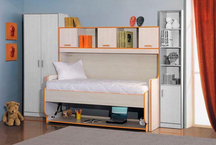 Двухъярусная стол-кровать