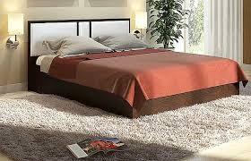Двуспальная кровать темный дуб