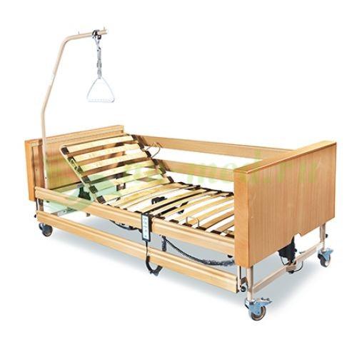 Электрический привод современной кровати из дерева