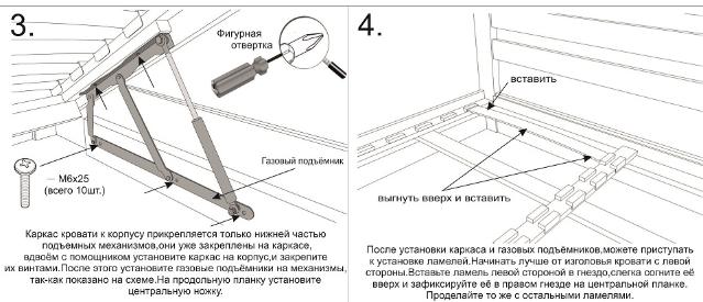 Этапы установки современного шкафа-кровати