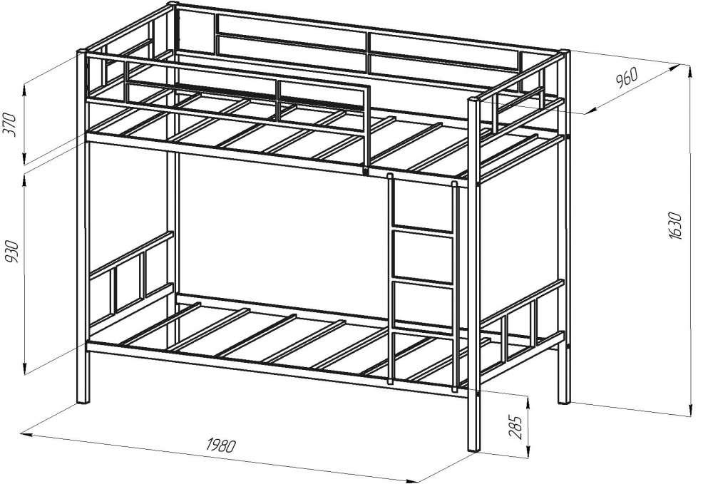 Габариты двуспальной кровати