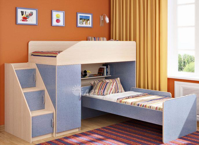 Голубая мебель для двоих