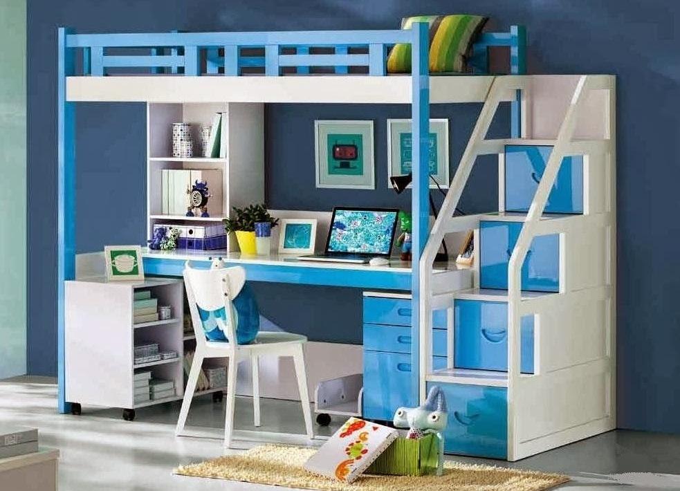 Голубая мебель для комнаты девочки