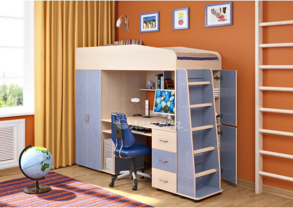 Голубая мебель для комнаты мальчика