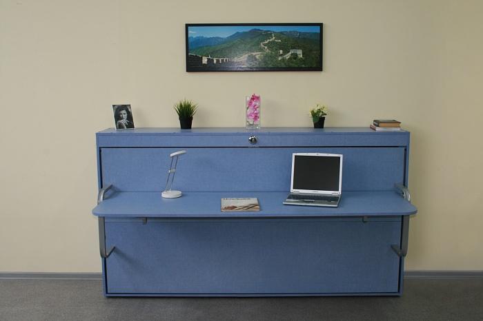 Голубой оттенок современной мебели для спальни