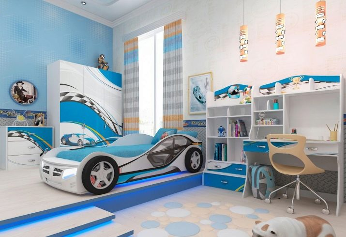 Голубые оттенки дизайна комнаты