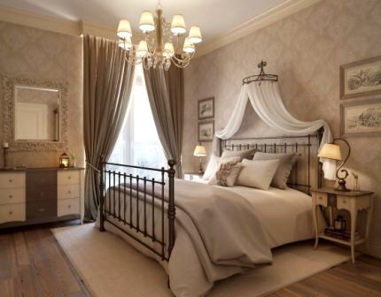 Интерьер прованс в спальне