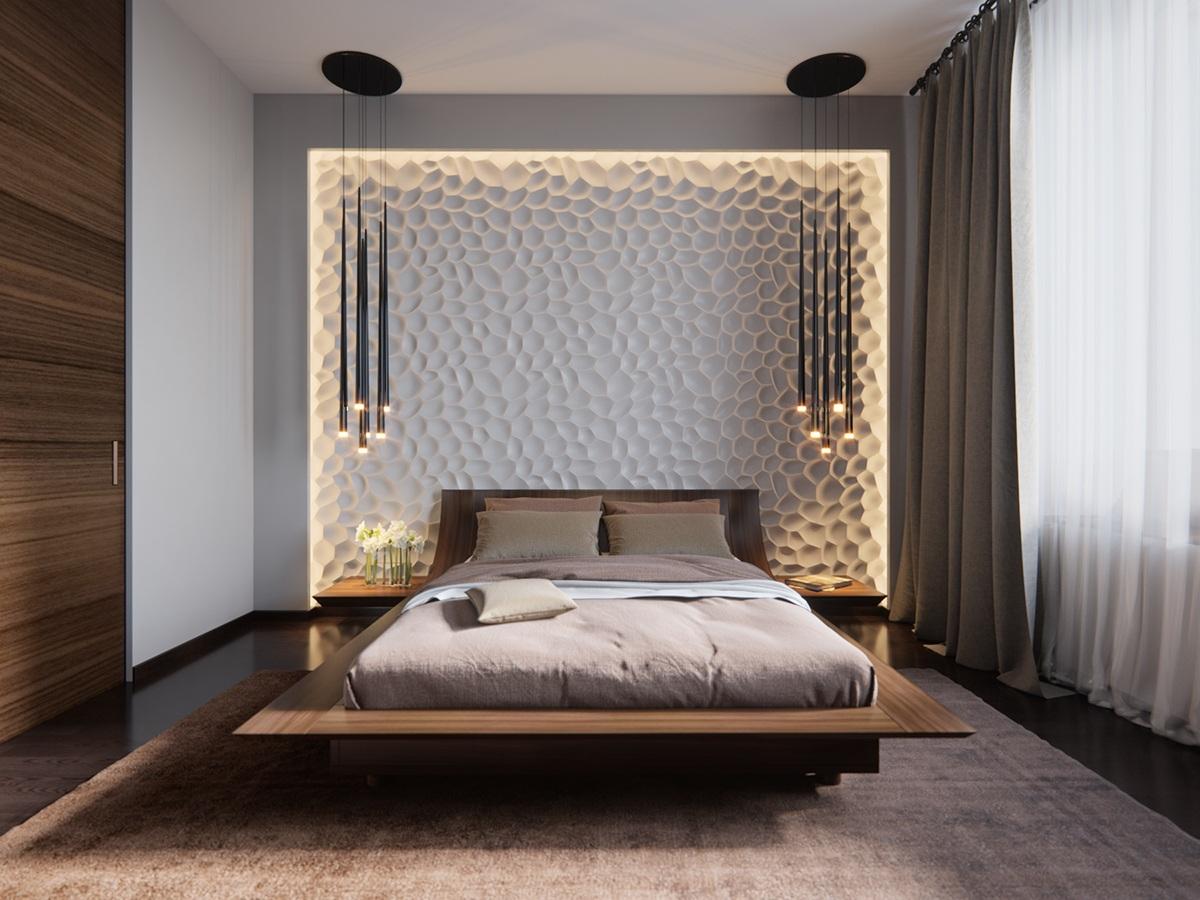 Изголовье кровати с подсветкой