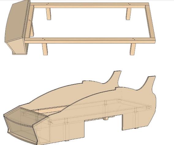 Изготовление каркаса современной кровати для ребенка
