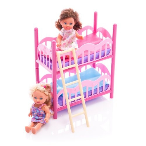 Как сделать двухъярусную кровать для кукол