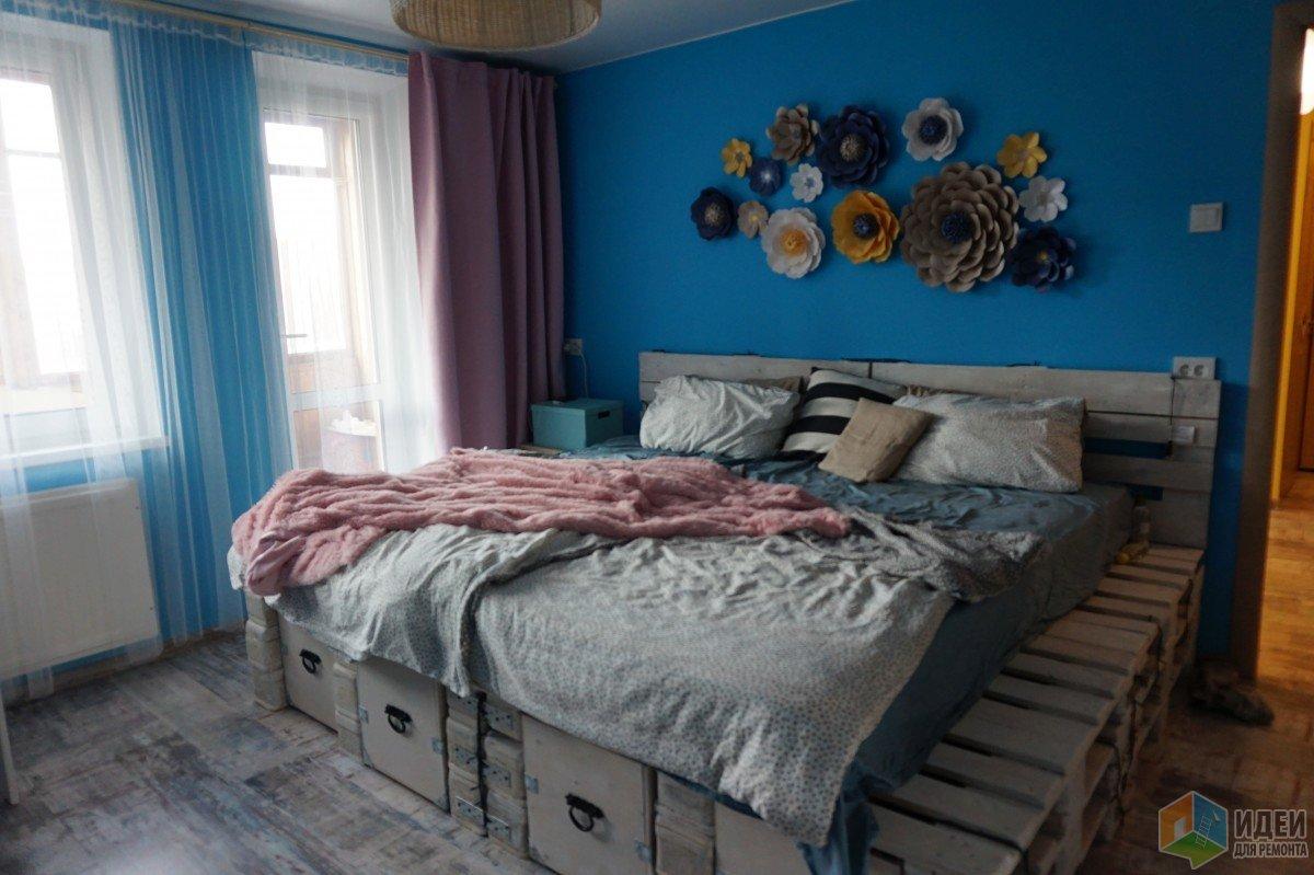Как сделать кровать из паллет своими руками