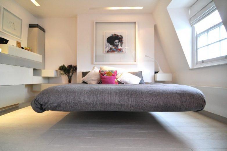 Как сделать парящую кровать