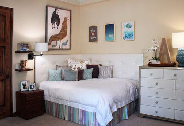 Как сэкономить место в спальне