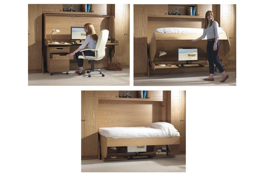 Как устроена кровать со встроенным столом