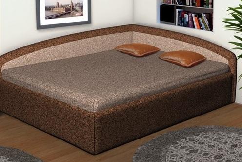 Коричневые покрытия кровати