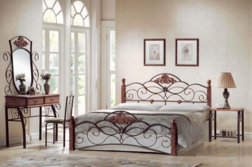 Кованые кровати в интерьер
