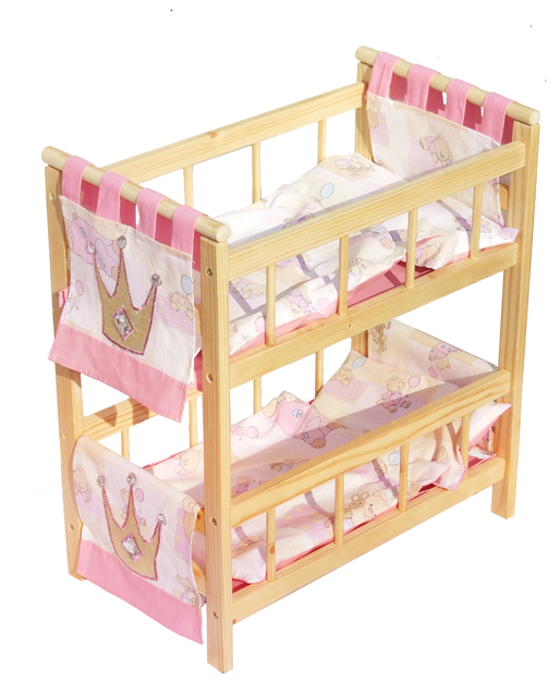 Красивая кроватка для игр ребенка