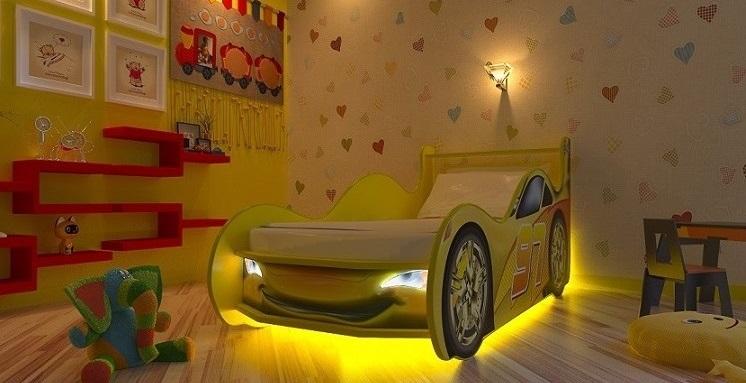 Красивая подсветка для кровати