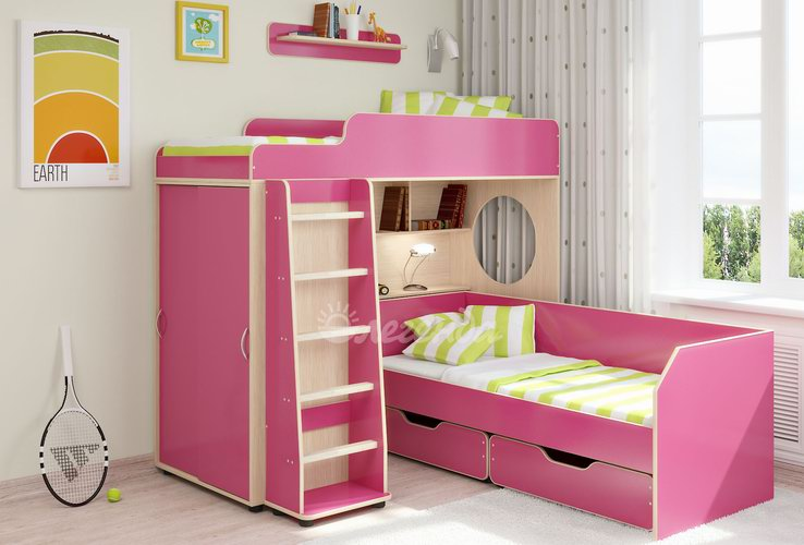Красивая розовая мебель