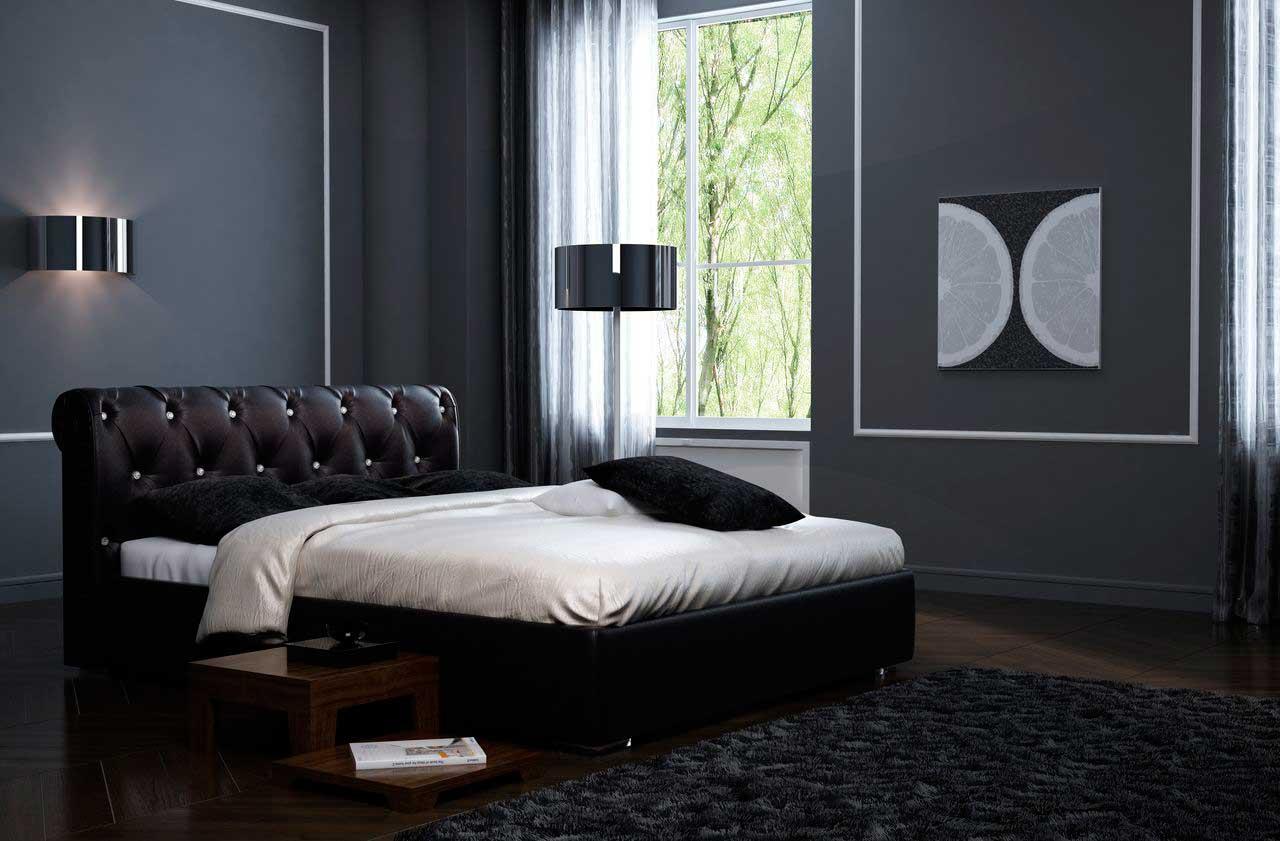Красивое спальное ложе для двоих