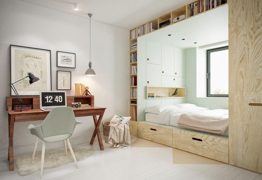 Креативный дизайн интерьера комнаты для подростка
