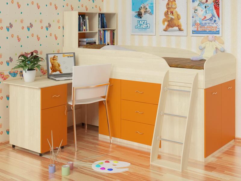 Кровать чердак детям от 3 лет
