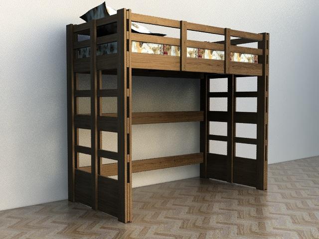 Кровать чердак для подростка в детскую