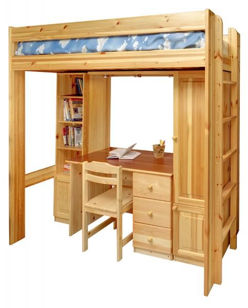 Кровать чердак из сосны