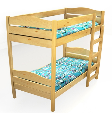 Кровать детская двухъярусная для детского сада