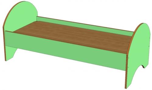 Кровать для детского сада ДСП
