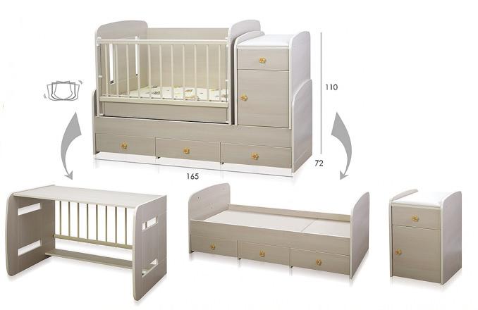 Кровать для новорожденной и подростка