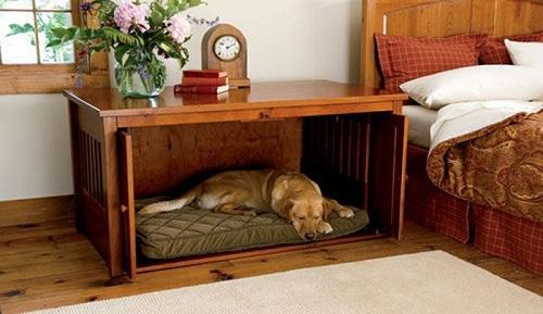 Кровать-домик для сна собаки