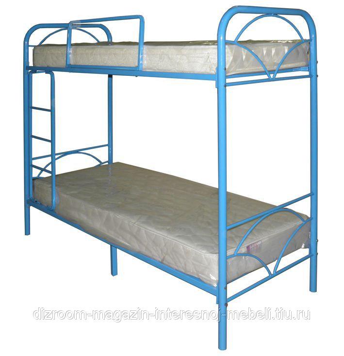 Кровать двухъярусная металлическая для дома