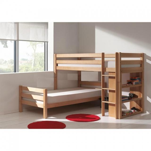 Кровать двухъярусная угловая