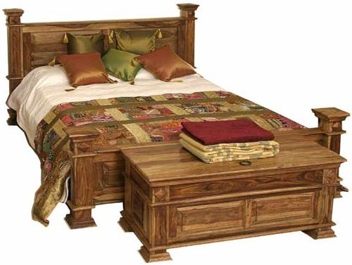 Кровать двуспальная из массива дуба