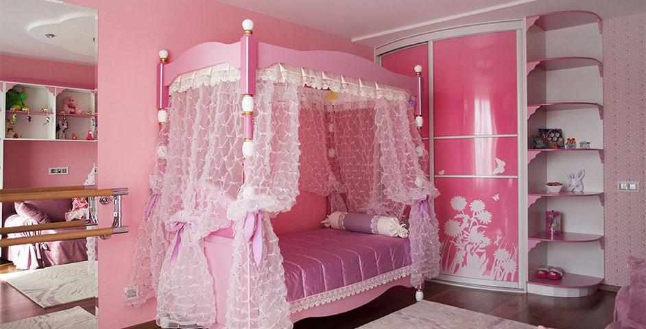 Кровать — главный предмет детской мебели для девочек