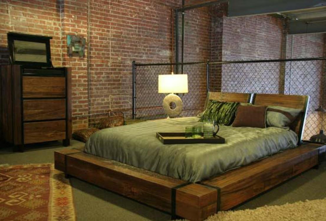 Кровать из бруса