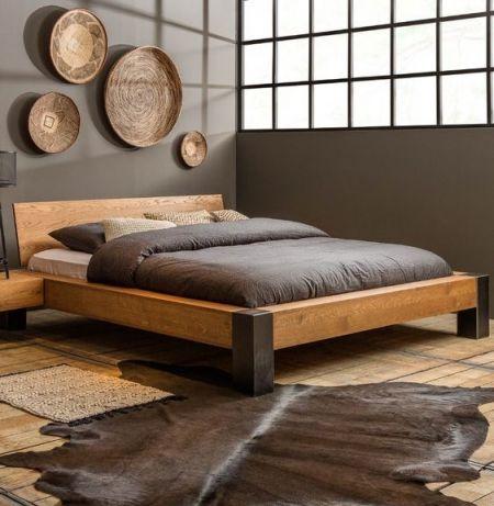 Кровать из бруса, мебель