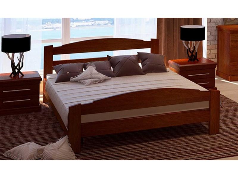 Кровать из массива дуба для двоих