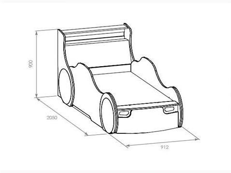 Кровать машина проект