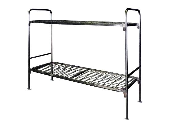 Кровать металлическая двухъярусная спинка