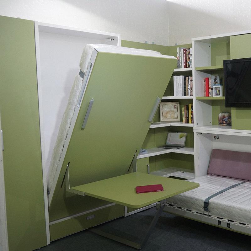 Кровать со столом и системой хранения