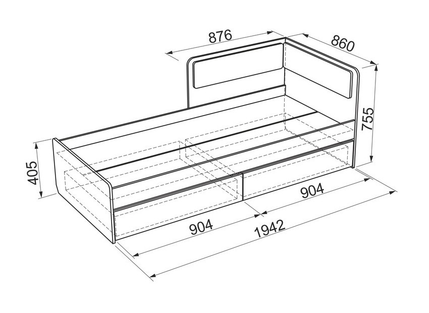 Кровать софа с ящиками