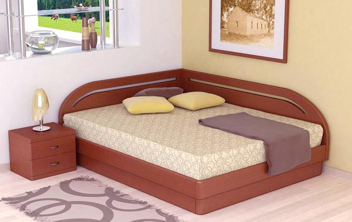Кровать угловая