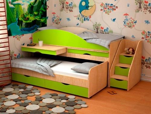 Кровать выкатная двухъярусная